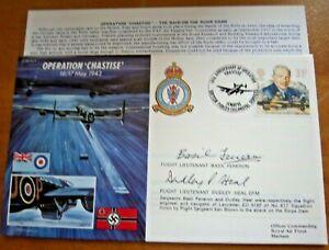 DAMBUSTERS FLIGHT LIEUTENANTS BASIL FENERON & DUDLEY HEAL SIGNED DAMBUSTER COVER
