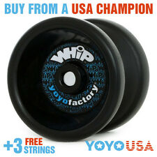 YoYoFactory WHiP Beginner Yo-Yo - Black + FREE STRINGS