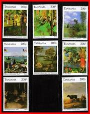 TANZANIA= IMPRESSIONIST'S PAINTINGS MNH MONET GAUGUIN DEGAS BALLET JUDAICA BIBLE