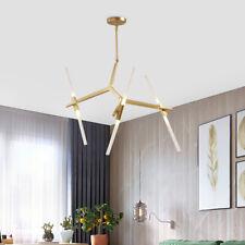 6-Light Industrial Modern Metal Glass Branch Chandelier Pendant Ceiling Fixtures