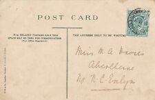 KEVII - 1/2 d on postcard - stamped Carmarthenshire - February 1904 (P4)