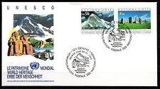 United Nations / Geneva office - 1992 Unesco cultural heritage Mi. 210-11 FDC