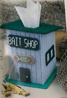 """"""" BAIT SHOP TISSUE BOX COVER'' ~*~PLASTIC  CANVAS PATTERN~*~"""