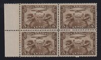 Canada Sc #C1 (1928) 5c brown Airmail Allegory Block of 4 Mint VF NH MNH