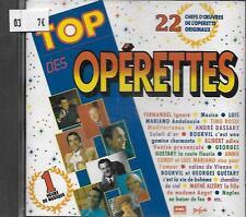 CD album: Compilation: Top des Opéretttes. Emi. W