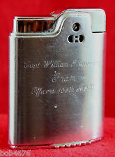 RARE Cold War Era 105TH AGB AIRLIFT WING Inscribed to Capt. RONSON LIGHTER -Look