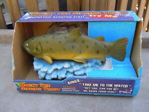 Rocky The Singing Trout Singing Fish - RARE In Original Package Batteries Incl.