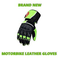 Motorcycle Biker Cowhide Real Leather Gloves Racing and Sports Motorbike Gloves