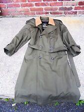 LONDON FOG Men's Vintage Long RAINCOAT Rain Trench Coat Size 40 reg Green