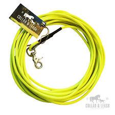 *NEU* BIOTHANE Hundeleine Leine Fährtenleine Schleppleine 10m rund 6mm neon gelb