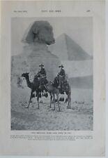 1915 WW1 Aufdruck Ägypten Kamel Pyramiden Pilgrimage Sich Mecca Australasian