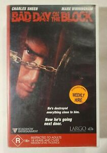 Bad Day on the Block VHS 1997 Psycho/Thriller Craig R. Baxley Roadshow ExRental