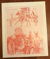 Adam Wurtz Surrealist Etching Carnival of Puppets Signed LE 221/500 1981
