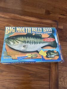 Vintage 1999 Gemmy Big Mouth Billy Bass Singing Talking Fish