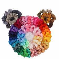 60 Packs Silky Satin Hair Scrunchies Ponytail Holder Hair Accessories Elastics