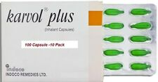 100 Capsules Karvol Plus Capsules Inhalant Clear Congestion Cold Cough