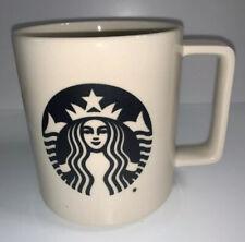 Starbucks Coffee Mug Tea Cup White Ceramic Black Siren Logo 14 Oz USA Made 2015