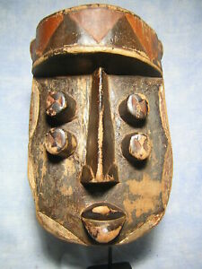 AFRICANTIC MASQUE GREBO ART TRIBAL AFRICAIN ANCIEN STATUE AFRICAINE AFRICAN MASK