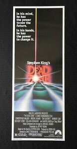"""1983 Stephen King's """"THE DEAD ZONE"""" 14x36 Movie Poster NEVER ROLLED EXCELLENT"""