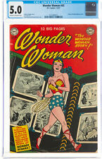 Wonder Woman #45 (DC, 1951) CGC VG/FN 5.0 C/OW ORIGIN Retold