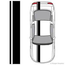 Universal 3M Vinyl Single Offset Racing Stripes for any Car or Truck Decals