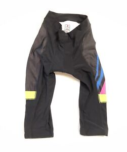 Small Women's Tri Strong Coaching Hincapie Fleece Knickers Black/Yellow CLOSEOUT