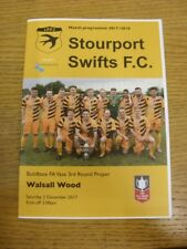 02/12/2017 Stourport Swifts v Walsall Wood [FA Vase] . Thank you for viewing thi