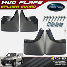 NEW 4pcs Front and Rear Splash Guards Mud Flaps for Hummer H3 2006-2009 2010