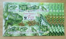 SPECIAL LOT WWF Fiji 1997 797-800 - Iguana - 5 Sheets of 8 - MNH