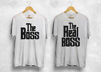 The Boss The Real Boss T Shirt Wifey Hubby Valentines Day Parents Couple Gift