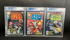 Star Wars 4, 17 & 23 PGX 8.0 9.0 9.4 - lot of 3 newsstand comics like CGC CBCS