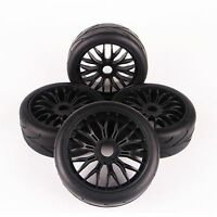 4X 1:8 Buggy Tires&Wheel 17mm Hex Set For HSP Traxxas RC On-Road Model Car tyres