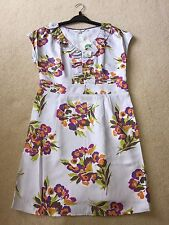 BNIP Boden Ladies Pale Blue Floral S/Sleeve Dress - Size 12 Petite - RRP £110