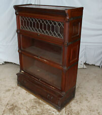 Antique Mahogany Bookcase Leaded Glass – Ideal Globe -Wernicke Co