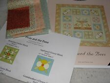 BIRDS AND THE BEES BOM Applique Quilt Kit - Cotton Blossoms - Quilt Soup 59x59""