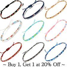 Bracelet Anklet Ankle Silver Jewellery Adjustable Foot Boho Cotton Bead Girls