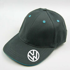 grey  vw baseball cap with blue trim