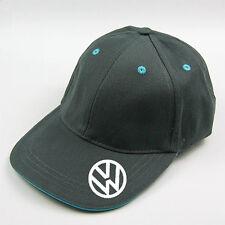 grey  vw baseball cap with blue trim