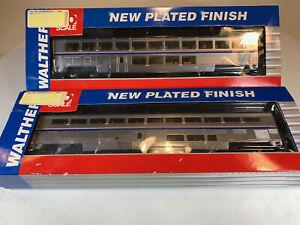 Walthers HO Superliner I Lounge/Coach Passenger Cars Amtrak AMTK LOT x2 MK-66