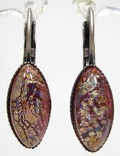 Mode-Ohrschmuck im Hänger-Stil aus Glas mit Marquise -/Navette-Schliffform
