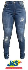 Red Route Sophia Ladies Motorcycle Skinny Denim Jeans Protective Ladies Blue J&S