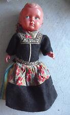 "Vintage 1930s Fleur de lis 10 Mark Jointed Celluloid Boy Ethnic Doll 10"" Tall"
