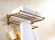 Antique Brass Wall Mount Bathroom Accessories Shelf Towel Rack Holder  tba320