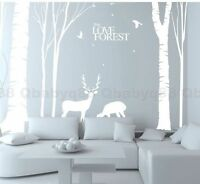 Giant Tree Forest deer Elk Bird Wall Stickers Vinyl Decal Decor art mural Branch