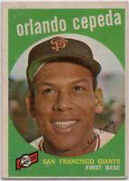 1959 Topps #390 Orlando Cepeda VG-VGEX San Francisco Giants FREE SHIPPING
