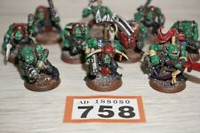Warhammer 40k Space Orks-Ork Boyz X 10-Lote 758 Pintado & basado