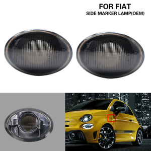 Smoke Lens OEM Side Marker Light Housing For Fiat 500 500e 500c Abarth 2007-2019
