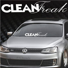 """Clean Freak Windshield Banner Decal / Sticker 4x29"""" tuner boost euro funny low"""