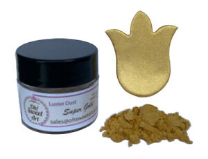 SUPER GOLD METALLIC DUST Food Fondant  Cake Decorating Gum Paste 4 grams