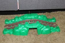 Lincoln Logs Sawmill Express Train Track Bridge tunnel Replacment Parts green